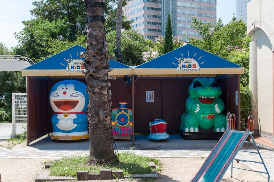 Doraemon, dinosaur and train